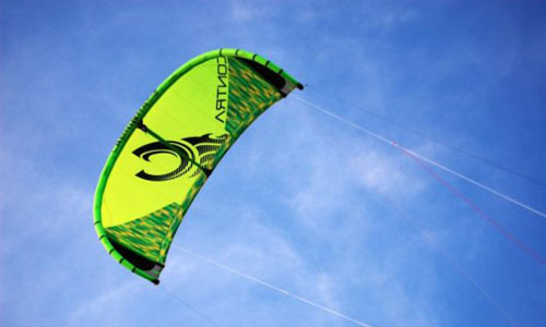 A picture of a flying kite